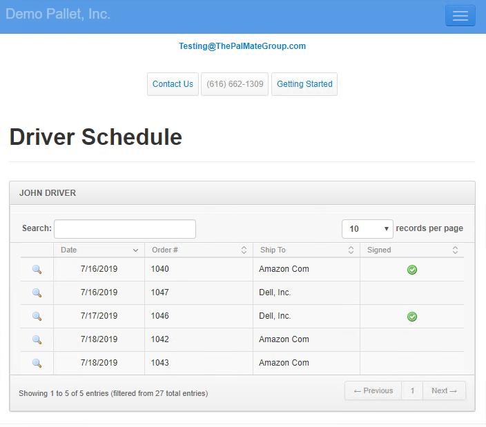 Driver Schedule